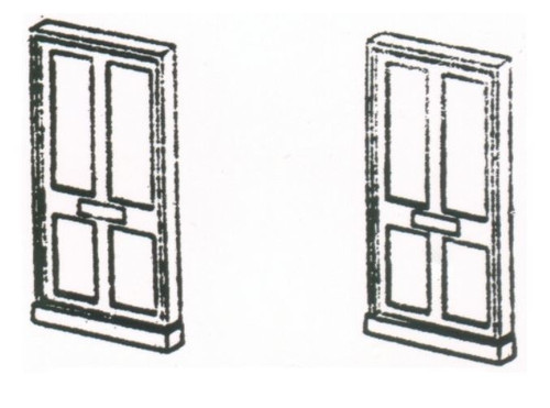 DPB1 OO 4 PANEL DOORS