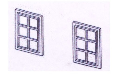 DPB20 OO SMALL 6 PANE WINDOWS