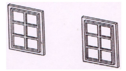 DPB21 OO 6 PANE WINDOWS