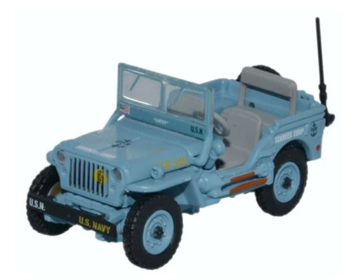 76WMB002 OO WILLY'S JEEP MB US NAVY SEEBEES