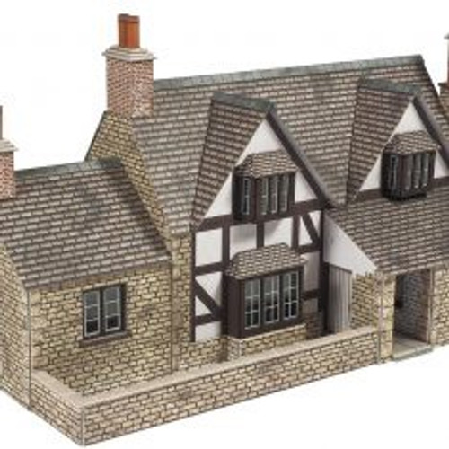 PO267 OO TOWN END COTTAGE CARD KIT