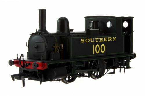 4S-018-008 OO 100 B4 0-4-0T SOUTHERN BLACK LINED GREEN