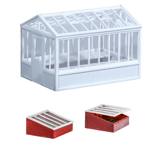 SS20 OO GREENHOUSE/COLD FRAMES PLASTIC KIT
