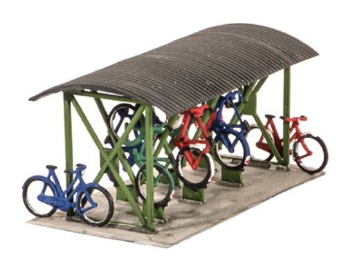 SS23 OO BICYCLE SHED WITH BIKES