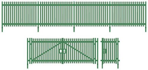 SSM316 OO MODERN PALISADE FENCING/GATES