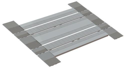 SSM319 OO MODERN LEVEL CROSSING ROAD BED