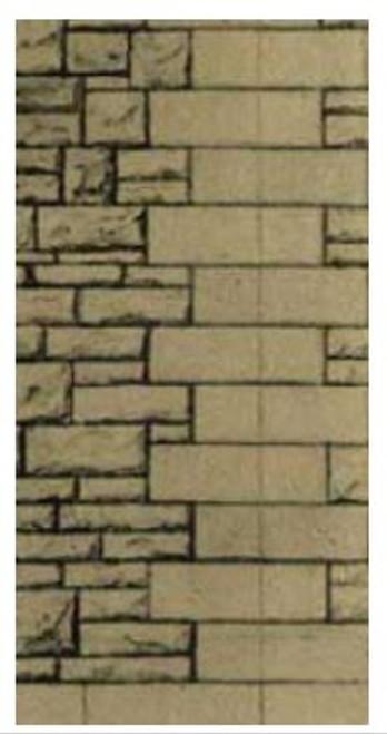SQD12 OO GREY RUBBLE WALLING PAPER