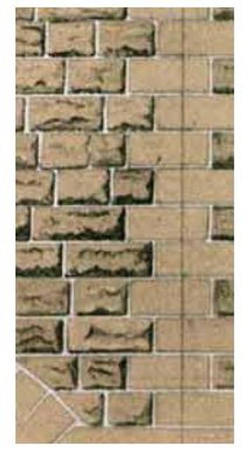 SQD8 OO GREY SANDSTONE WALLING PAPER