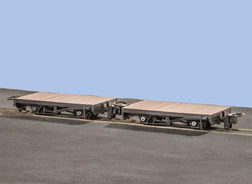GR-300 OO9 4 WHEEL FLAT WAGONS (2)