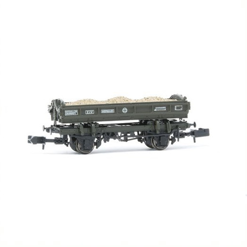 E87513 N DB989571 14T MERMAID BR OLIVE GREEN SIDE TIPPING BALLAST WAGON