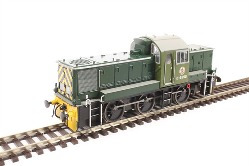 14081 OO D9555 CLASS 14 BR GREEN YELLOW WASP