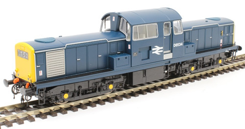 1718 OO D8523 CLASS 17 BR BLUE FULL YELLOW END