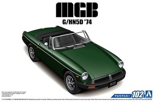 A05686 1/24 MGB 3 1974 PLASTIC KIT