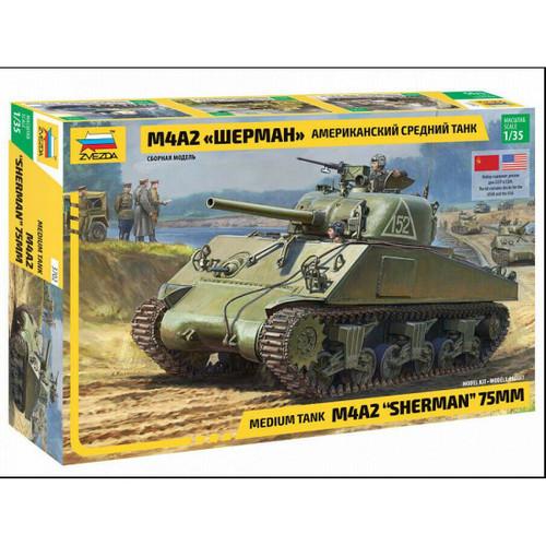Z3702 1/35 M4A2 SHERMAN TANK PLASTIC KIT