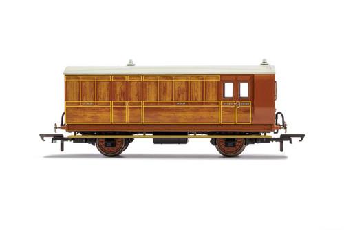 R40060 OO 836 4W BRAKE/BAGGAGE GNR TEAK