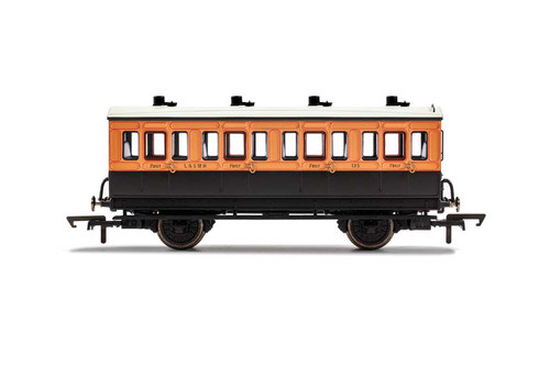 R40061 OO 123 4W 1ST CLASS LSWR SALMON PINK/BROWN