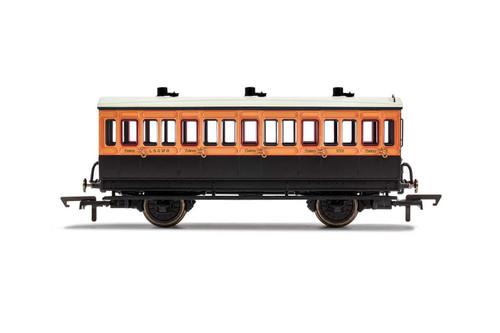 R40062 OO 302 4W 3RD CLASS LSWR SALMON PINK/BROWN
