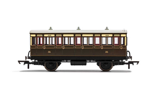 R40066 OO 1889 4W 3RD CLASS GWR CHOCOLATE/CREAM