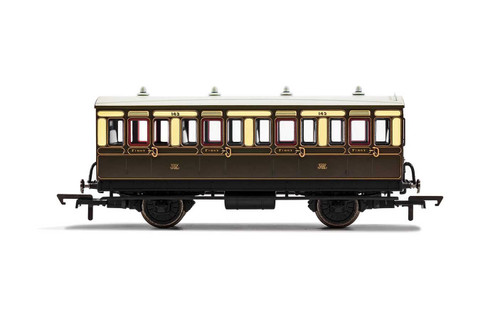 R40065 OO 143 4W 1ST CLASS GWR CHOCOLATE/CREAM