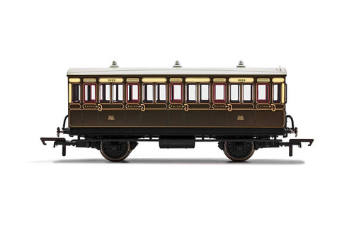 R40066A OO 1882 4W 3RD CLASS GWR CHOCOLATE/CREAM