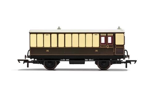 R40068 OO 1411 4W BRAKE/BAGGAGE GWR CHOCOLATE/CREAM