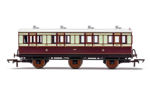 R40073 OO 1889 6W 1ST CLASS LNWR PLUM/SPLIT MILK