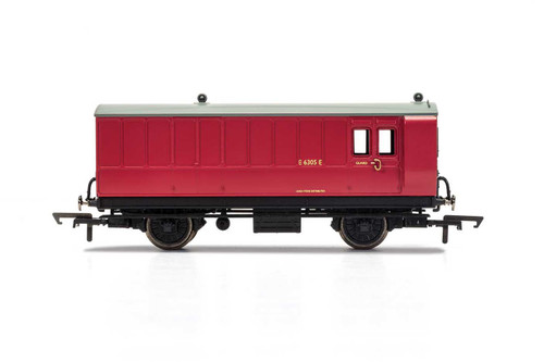 R40080 OO E210E 4W BRAKE/BAGGAGE BR MAROON
