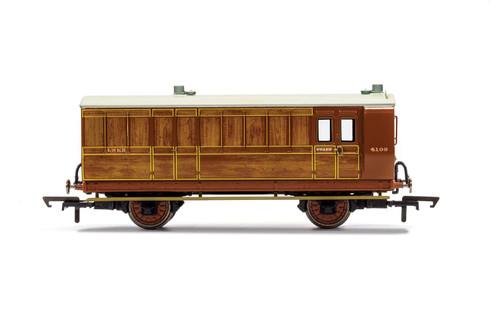 R40084 OO 4103 4W BRAKE/BAGGAGE LNER TEAK