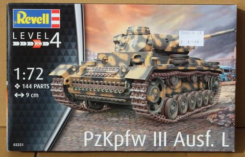 R03251 1/72 PZKPFW III AUSF L PLASTIC KIT