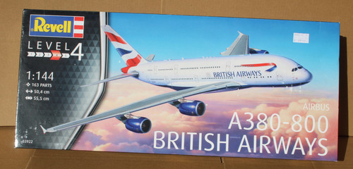 R03922 1/144 AIRBUS A380-800 BRITISH AIRWAYS PLASTIC KIT