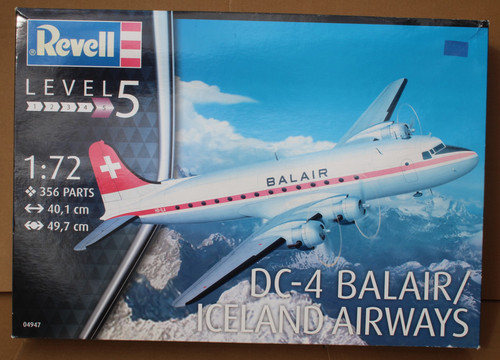 R04947 1/72 DC-4 BALAIR/ICELAND AIRWAYS PLASTIC KIT