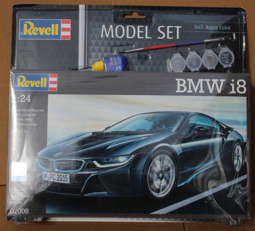 R67008 1/24 BMW I8 MODEL SET PLASTIC KIT