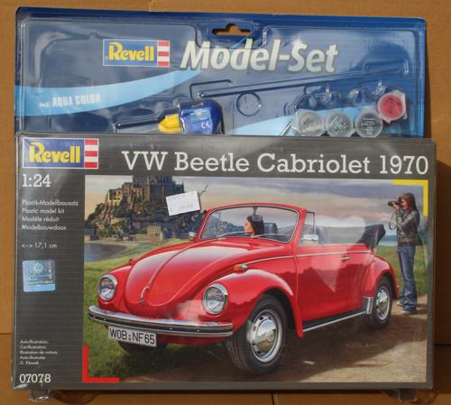 R67078 1/24 VW BEETLE CABRIOLET MODEL SET PLASTIC KIT