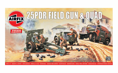 A01305V OO 25PDR FIELD GUN AND QUAD PLASTIC KIT