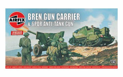 A01309V OO BREN GUN CARRIER/6 PDR ANTI-TANK GUN PLASTIC KIT