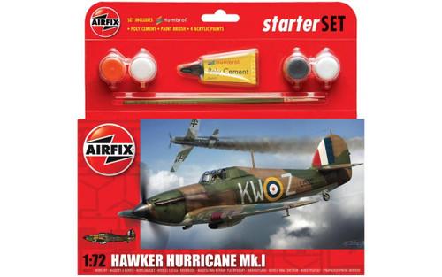 A55111 1/72 HAWKER HURRICANE MK.1 STARTER PLASTIC KIT