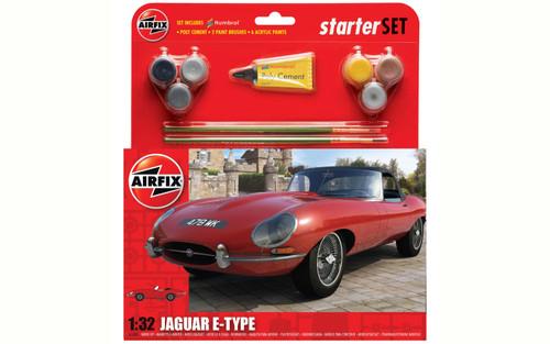 A55200 1/32 JAGUAR E-TYPE STARTER PLASTIC KIT