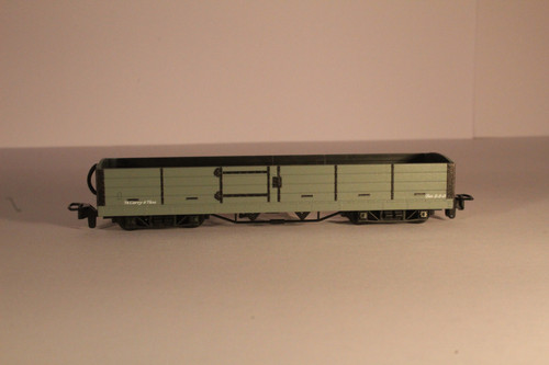GR-230U OO9 L/B 8 TON BOGIE OPEN WAGON L/B GREY, NO MARKINGS