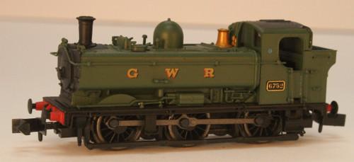 2S-007-022 N 6752 8750 CLASS 0-6-0PT GWR GREEN