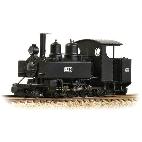 391-025A OO9 542 4-6-0T BALDWIN 10-12-D WDLR BLACK