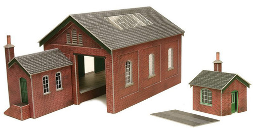 PO232 OO GOODS SHED CARD KIT
