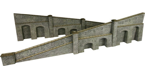 PO249 OO STONE TAPERED RETAINING WALL CARD KIT