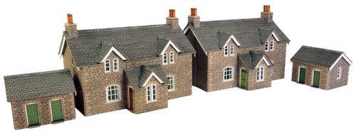PO255 OO WORKERS COTTAGES CARD KIT