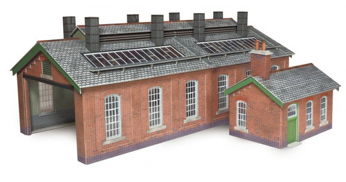 PO313 OO ENGINE SHED DOUBLE TRACK CARD KIT