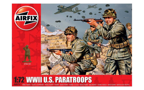 A00751 1/72 WWII U.S PARATROOPS