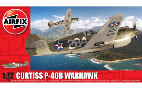 A01003B 1/72 CURTISS P-40B WARHAWK PLASTIC KIT