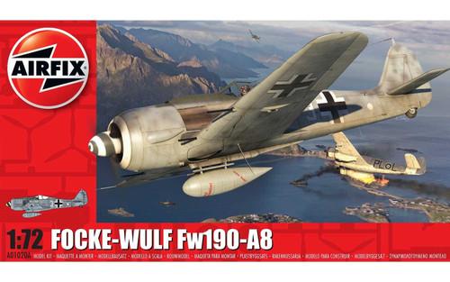 A01020A 1/72 FOCKE-WULF FW190-A8 PLASTIC KIT