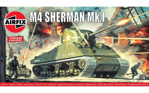A01303V OO M4 SHERMAN MK1 TANK PLASTIC KIT