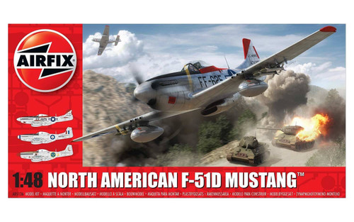 A05136 1/48 NORTH AMERICAN F-51D MUSTANG PLASTIC KIT