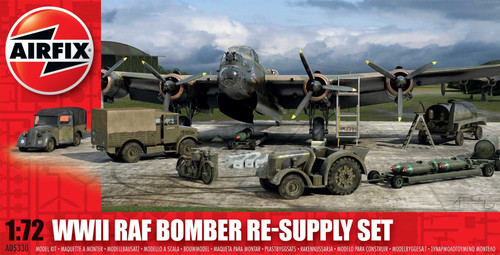 A05330 1/72 WWII RAF BOMBER RE-SUPPLY SET PLASTIC KIT
